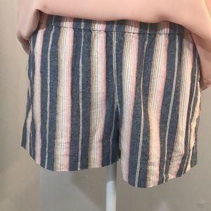 JCREW Blue Stripped Shorts